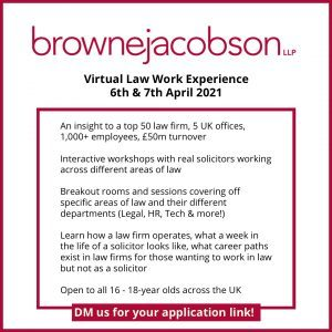 Browne Jacobson Law Work Experience 300x300